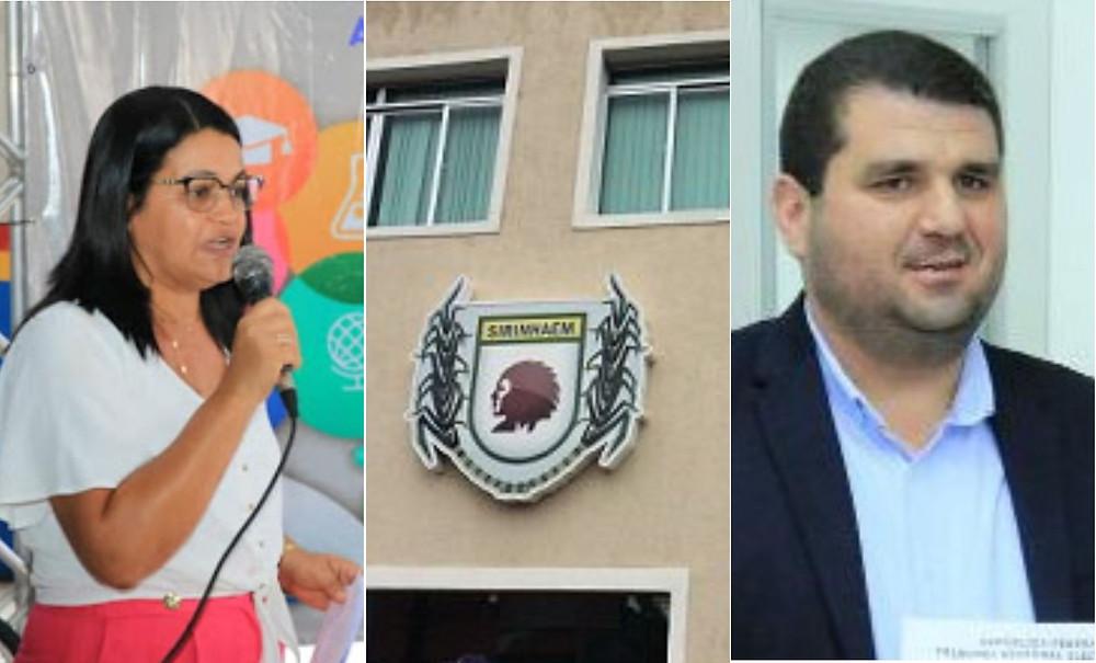 Nailza Bandeira, secretária de Educação; Rodrigo Bené (MDB), vereador da base aliada do governo