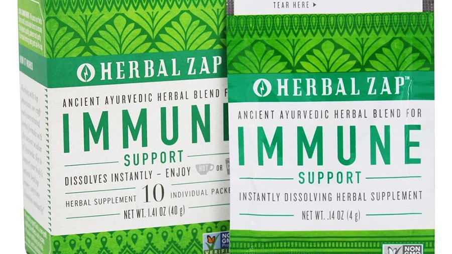 Herbal Zap Immune Support Supplement 10 packets