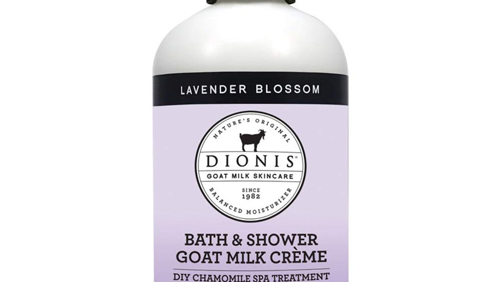 Dionis Bath and Shower Crème 8.5 Oz, Lavender Blossom gel cleanser spa treatment