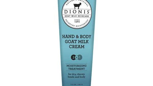 Dionis Goat Milk Skin Care Hand & Body Cream 3.3 Oz Blue Ridge Wildflowers