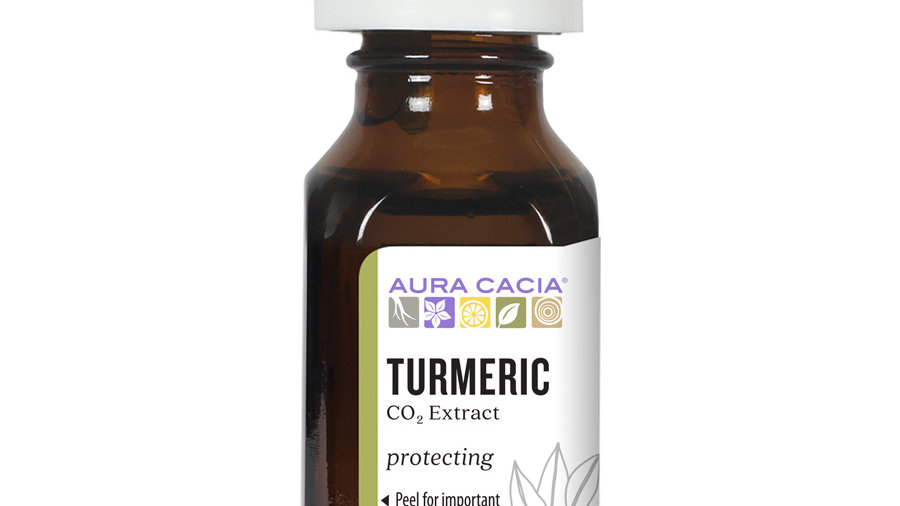 Aura Cacia Turmeric CO2 Extract 0.5 fl. oz. For muscle aches, arthrittis, body