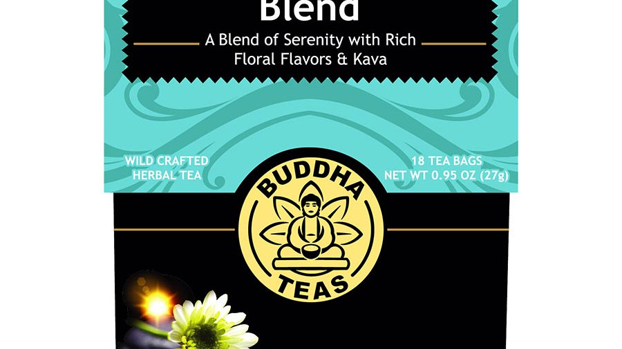 Buddha Teas Organic Calm Buddha Herbal Blend 18 tea bags Great for Bedtime