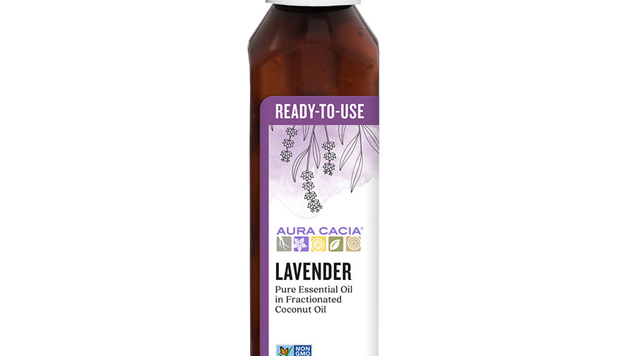 Aura Cacia Lavender Ready to Use Essential Oil 4 oz Calm Peaceful Relaxation
