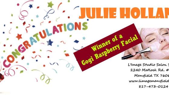 Congratulations to our Winner, Julie Holland