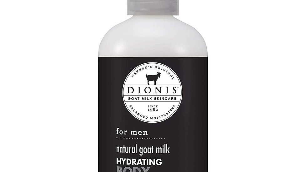 Dionis Natural Goat Milk Skincare for Men Hydrating Body Moisturizer 8.5 oz