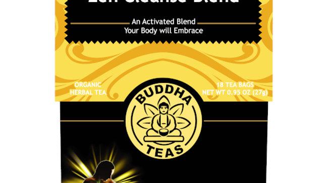 Buddha Teas Zen Cleanse Organic Premium Herbal Tea Blend 18 ct