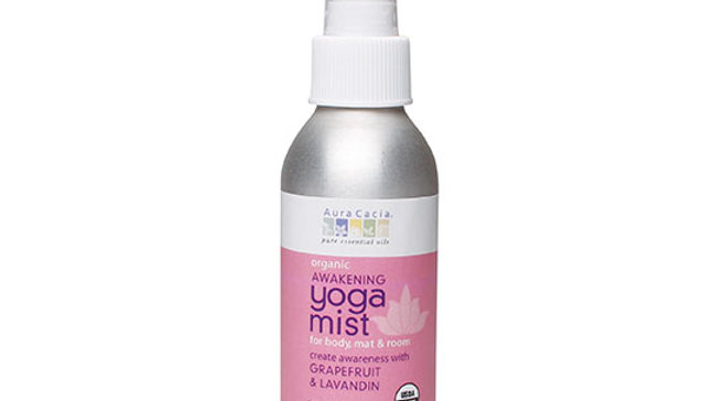 Aura Cacia Organic Grapefruit & Lavandin Body and Room Yoga Mist 4 fl. oz. Spray