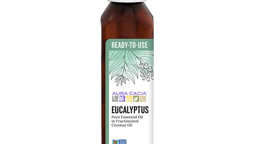 Aura Cacia Eucalyptus Ready to Use Essential Oil 4 fl. oz.
