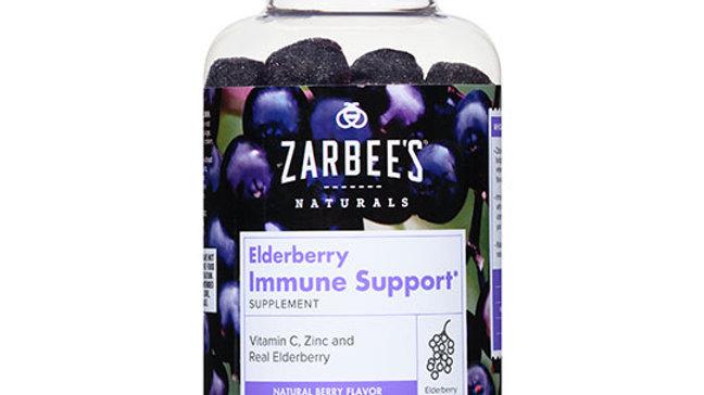 Zarbee's Naturals Elderberry Immune Support 12+ years 60 gummies