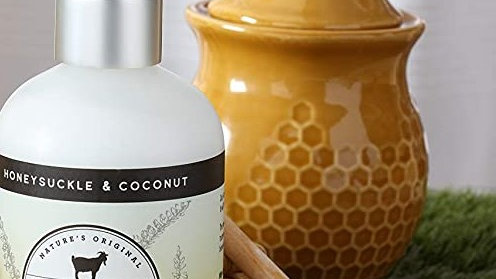 Dionis Goat Milk Skincare Hand and Body Lotion Honeysuckle & Coconut 8.5 oz
