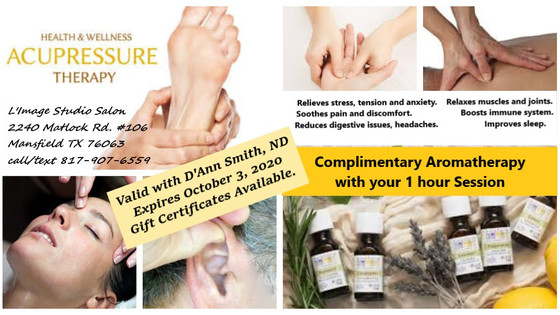 Complimentary Aromatherapy with Acupressure Session