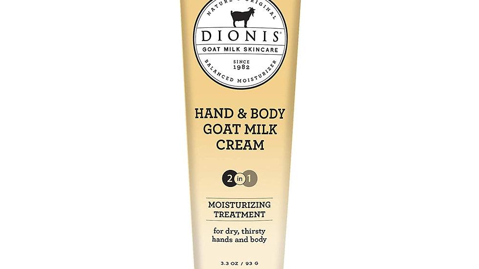 Dionis Goat Milk Skin Care Hand & Body Cream Moisturizer 3.3 Oz Milk and Honey