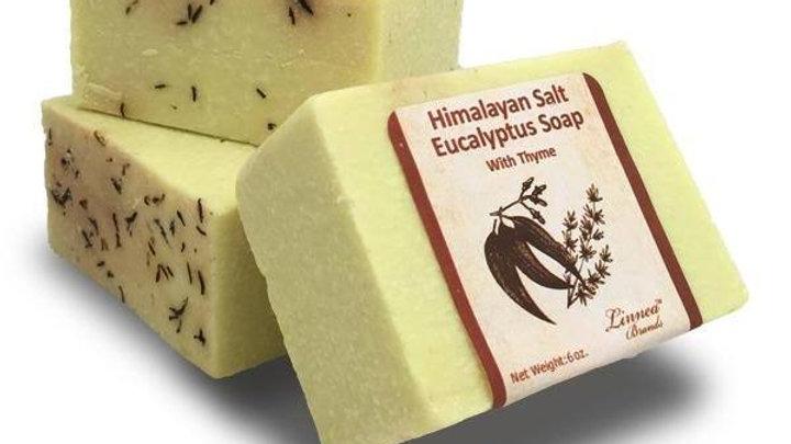 Himalayan Salt Soap - Eucalyptus and Thyme- Handcrafted-100% ORGANIC