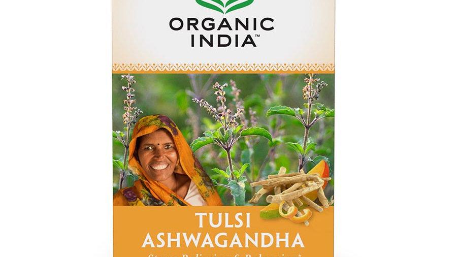 Organic India Ashwagandha Tulsi Infusions Tea 18 herbal tea bags - Immune Boost