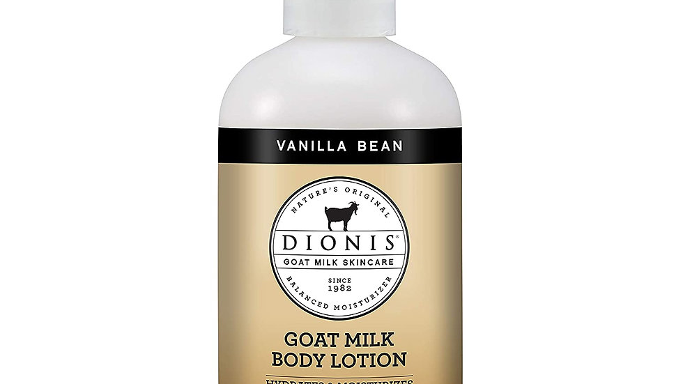 Dionis Goat Milk Skincare Vanilla Bean Hand and Body Lotion 8.5 oz
