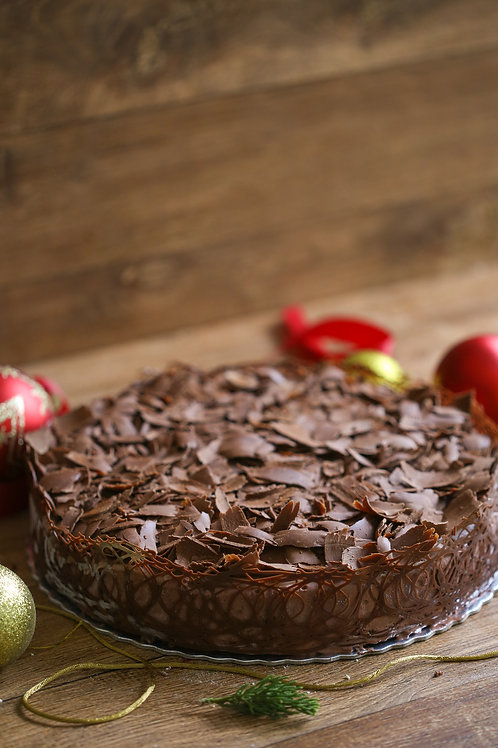 Bolo de Sorvete Chocolate com brigadeiro