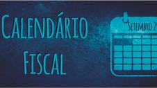 Calendário Fiscal - Setembro 2020