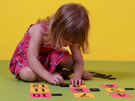 Domino Line-Up - Preschool Math Activity