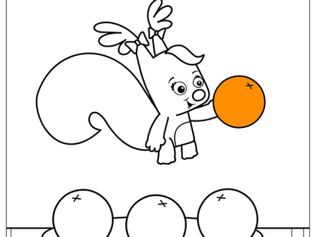 Tracing and Coloring Fruit - Free Printable Activity Sheet