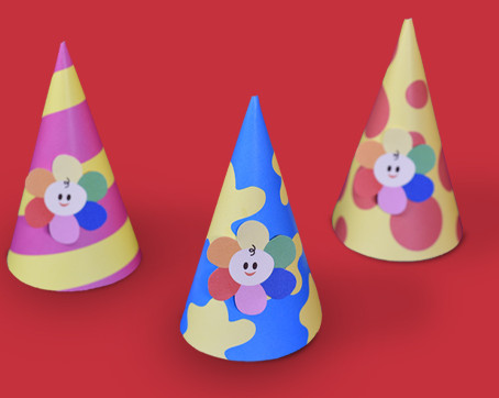 BabyFirst Birthday Party Hats (printable)