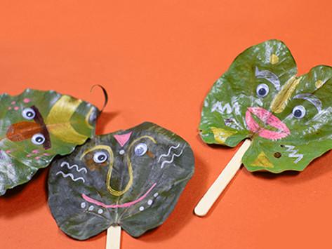 Leaf Puppets Autumn Activity