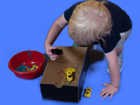 Pattern Painting with Toys