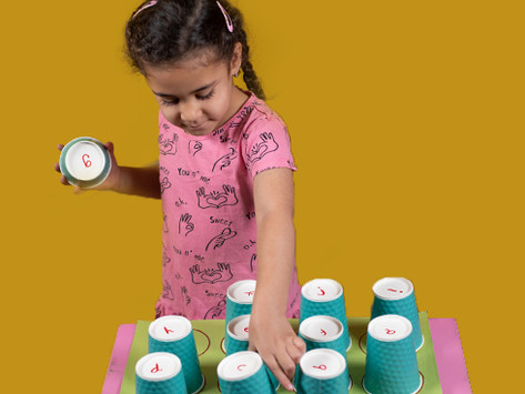 ABC Paper Cup Match-Up – Preschool Activity