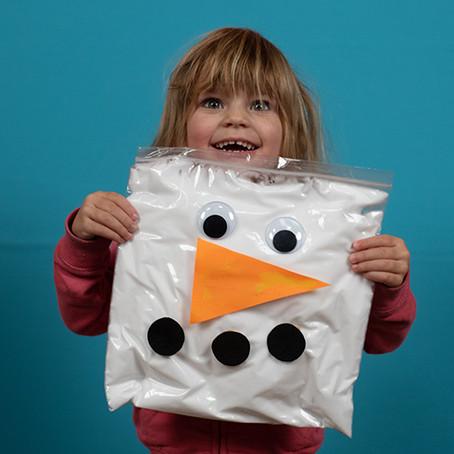 Snowman in a Bag - Sensory Activity