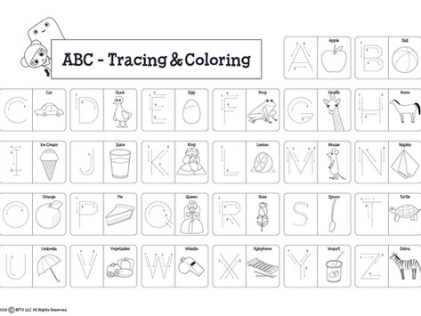 ABC Trace and Color!