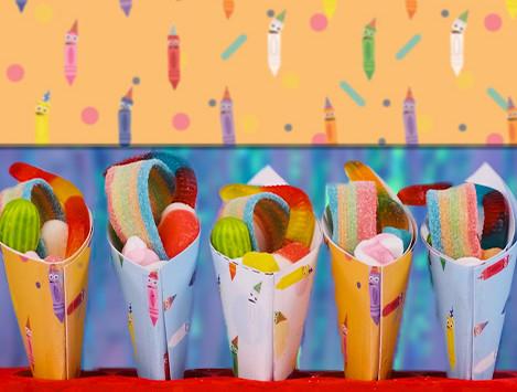 Color Crew Birthday Snack Holder