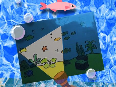 DIY Art Spotlight for Kids