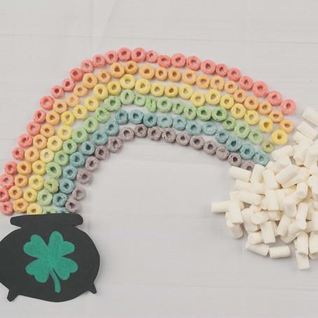 St. Patrick's Day Edible Rainbow