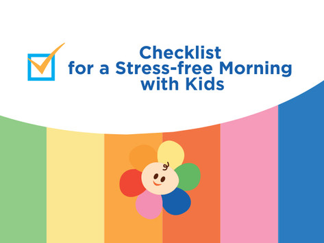 Checklist for a Stress-free Morning with Kids