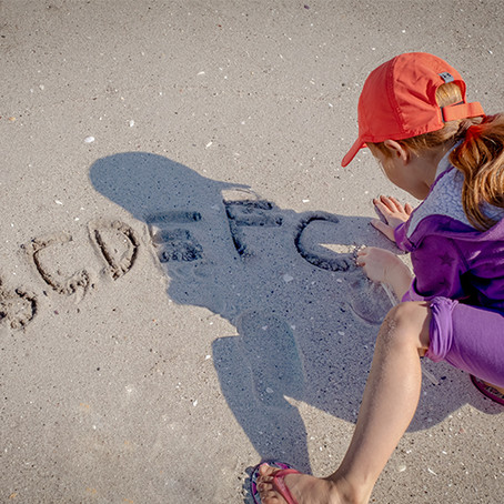 Learning your ABC's on the Beach!
