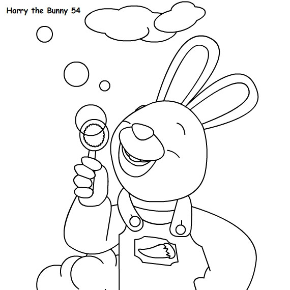 Harry the Bunny Coloring Pages