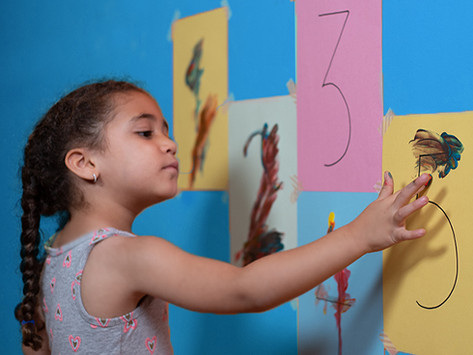 Finger Painting Numbers