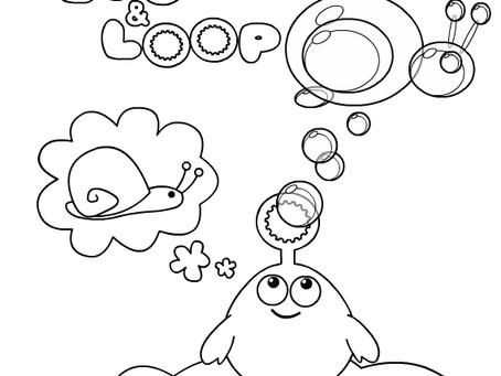 Bloop and Loop Coloring Pages