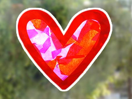 DIY Heart-Shaped Sun Catchers