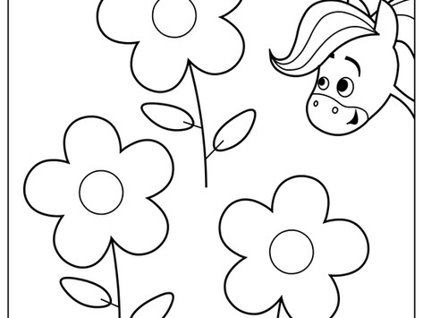 Rainbow Horse Coloring Pages - Yellow, Red, and Green!