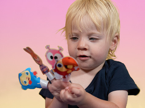 BabyFirst Character Finger Puppets (Printable)