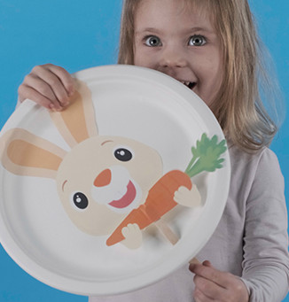 Interactive Bunny Plate