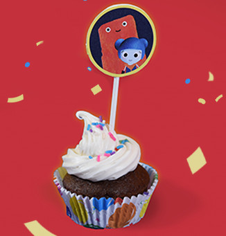 BabyFirstTV Birthday Cupcake Toppers (Printable)