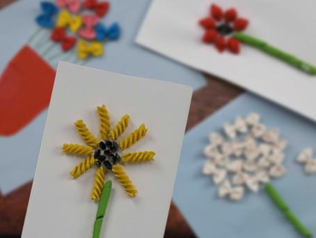 Pasta Flower Card