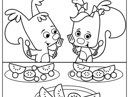 Sami and Eve Coloring Pages