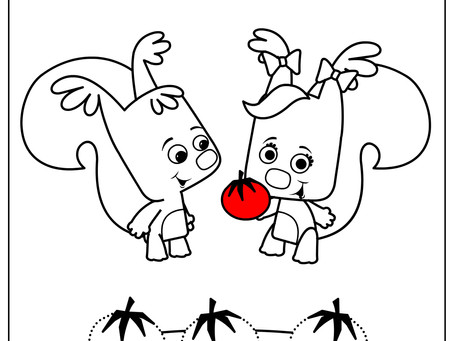 Tracing and Coloring Vegetables- Free Printable Activity Sheet