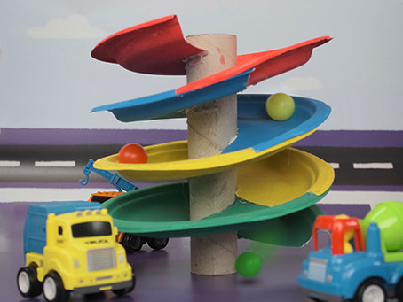 Paper Plate Spiral Track – DIY Toy