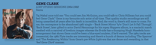 Gene Clark The Lost Studio Sessions Review from Christopher Hollow in Rhythms magazine.