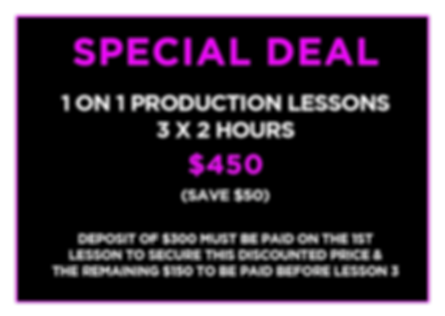 Production Lessons - IN PERSON UPDATED 2