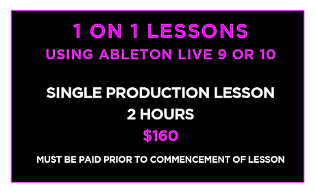 Production Lessons - IN PERSON SINGLE UP
