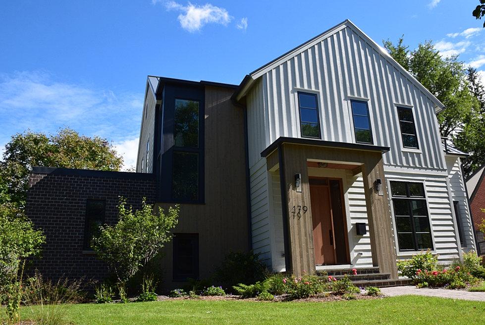 Trinity home developers white gray contemporary farmhouse for White modern farmhouse